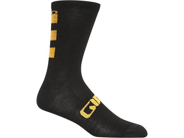 Giro Seasonal Merino Wollen Sokken, glaze yellow/black